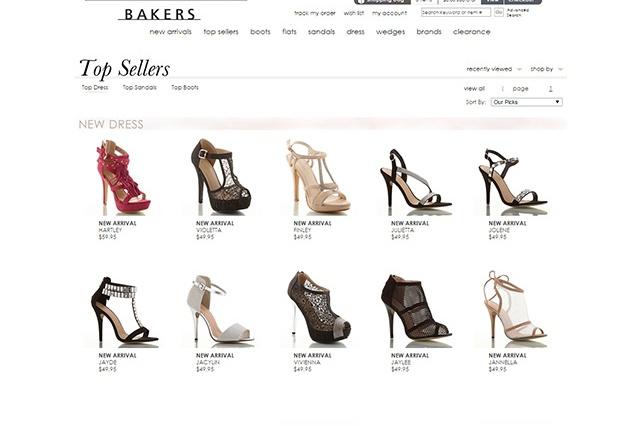 sites internet web bakers shoes