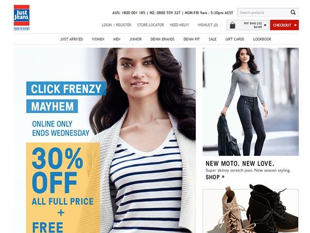 sites internet web just jeans