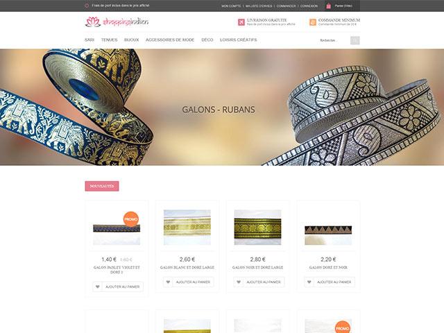 sites internet web shopping indien